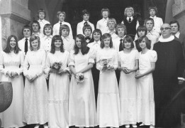 Pastor Flensted Konfirmation 1975